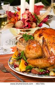 dinner table roasted thanksgiving turkey ready stock photo 485097322