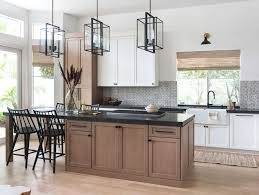 are painted or stained kitchen cabinets in style kitchen trend wood stained and painted cabinets home