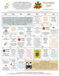 november community calendar arc muskegon
