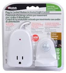 Westek 15 Amp 2 Outlet by Amazon Com Westek Indoor Plug In Corded Motion Activated Light