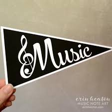Musical Note Decorations Music Pennant Flags Printable Music Party Decorations U2013 Erin