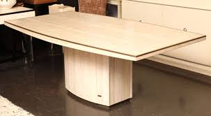 Travertine Dining Room Table Jean Charles And Willy Rizzo Travertine Dining Table With Pedestal