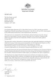 department of health letter of transmittal