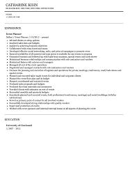 Chronological Event Planner Resume Template by Event Planner Resume Sample Velvet Jobs