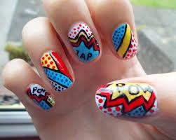 comic book nail art u2013 wonderfulwolf
