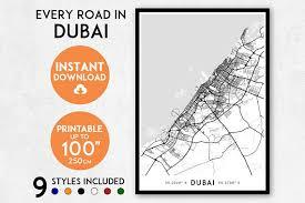 printable abu dhabi road map dubai map print printable dubai map art dubai print united