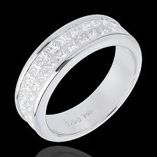 alliance mariage or blanc alliance or blanc 18 carats semi pavée serti rail 2 rangs 1 5