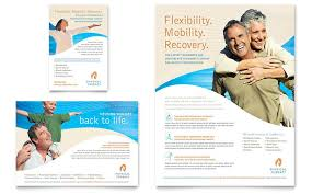 physical therapist flyer u0026 ad template design