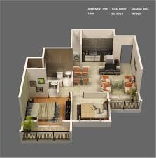 in apartment house plans plan of two bedroom flat ideas 3d 2 apartment house plans with