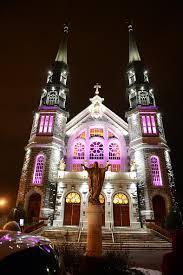 Church Lights St Dominique Church U0027s Beautiful Iluminarc Exterior