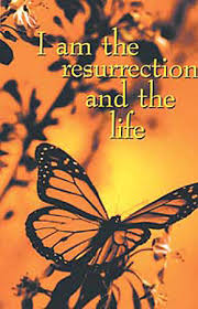 Funeral Bulletin Funeral Bulletin I Am The Resurrection And The Life Regular