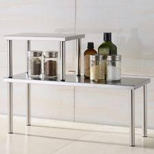 Stackable Kitchen Cabinet Organizer Storage Shelf Stackable 2tier Stainless Steel Organizer Kitchen
