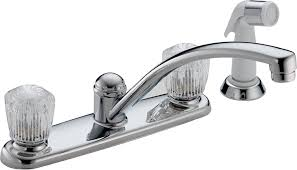 Grohe Kitchen Faucet Warranty Amazon Com Delta 2402lf Classic Two Handle Kitchen Faucet With