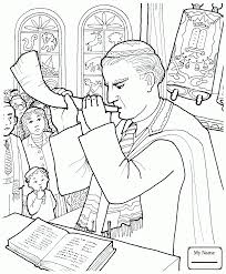 kids shofar coloring pages for kids yom kippur rabbi blows a shofar in