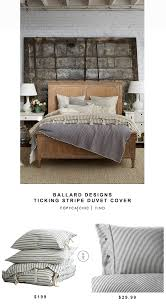 ballard designs ticking stripe duvet cover copy cat chic