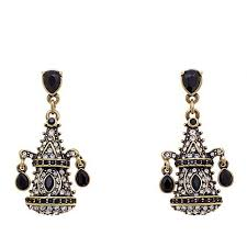 pagoda earrings heidi daus my garden pagoda drop earrings 8289606 hsn
