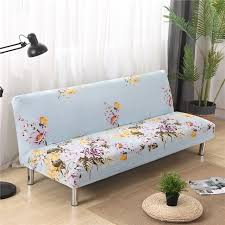 Armless Sofa Bed All Inclusive Slip Resistant Armless Sofa Cover Floral Folding