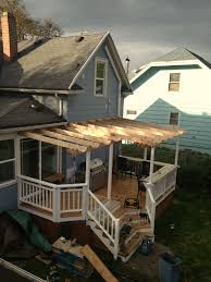 cedar deck trellis steps rails w built in bar buildstrong