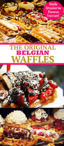 belgian waffles with ice cream nutella banana and strawberries