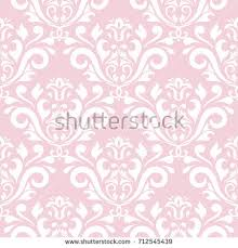 seamless pink damask stock vector 39163612