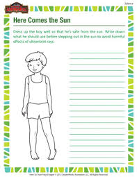 here come the sun u2013 science worksheet for grade 3