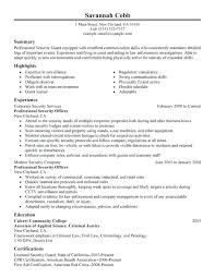 sample janitor resume security officer resume sample within