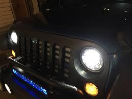 jeep headlights halo 2017 oem led headlight review jkowners com jeep wrangler jk forum