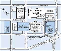 Parking Building Floor Plan Anderson Center Parking At St Luke U0027s Boise Medical Center