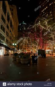 downtown seattle wa in king county at christmas time with city