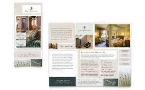 bed u0026 breakfast motel tri fold brochure template word u0026 publisher