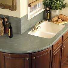 Fancy Design Ideas Using Cream Glass Tile Backsplash And L Shaped