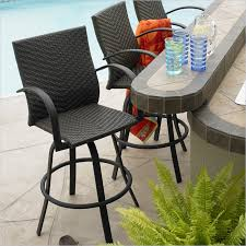 Patio Bar Furniture Set 3 Outdoor Bar Table Set Contemporary Pub And For Stools With