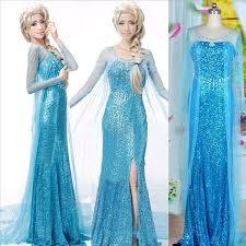 elsa princess cosplay dress lace wedding dresses frozen elsa