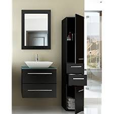 24 Inch Vanity Cabinet 24 Inch Carina Single Vessel Sink Wall Mounted Modern Bathroom