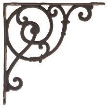 wholesale rust brown cast iron vine shelf brackets low price