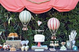 hot air balloon decorations a vintage hot air balloon party spaceships and laser beams