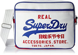alumni bags superdry mash up alumni shoulder bag in optic baseball blue