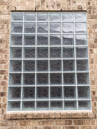 glass block windows mixed glass block sizes houston glass block