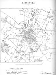 Leicester England Map by Map Of The Borough Of Leicester
