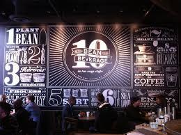 starbucks chalkboard wall art design ideas pinterest