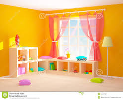 Baby S Room Baby Room With Floor Shelves Stock Illustration Image 51977707