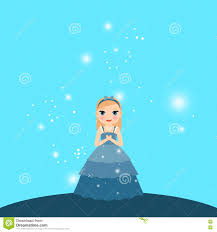 beautiful cartoon princess lights stock vector image 76596822