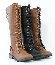 womens size 12 fashion combat boots lace up boots ebay