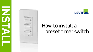 Defiant Timers Dimmers Switches U0026 by How To Install A Leviton Preset Timer Switch Youtube