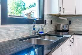 black kitchen countertops with white cabinets absolute black granite