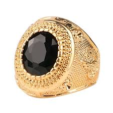 men rings jewelry images Online shop dubai gold color man rings vintage jewelry black red jpg