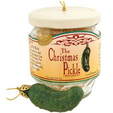 pickle in a jar ornament food u0026 beverage christmas ornaments