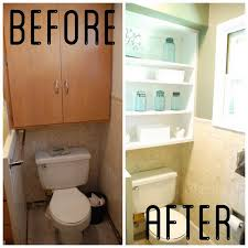 Bathroom Toilet Cabinets Diy Over Toilet Shelves How Audrey C Woody Pertaining To Diy