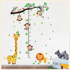 toise chambre b papier peint amovible toise mesure wall sticker decal pour enfants