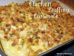 stove top dressing recipes for my boys chicken casserole